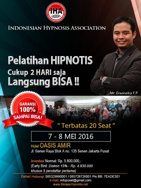 Pelatihan Hipnotis Hipnoterapi IHA di Jakarta Mei 2016