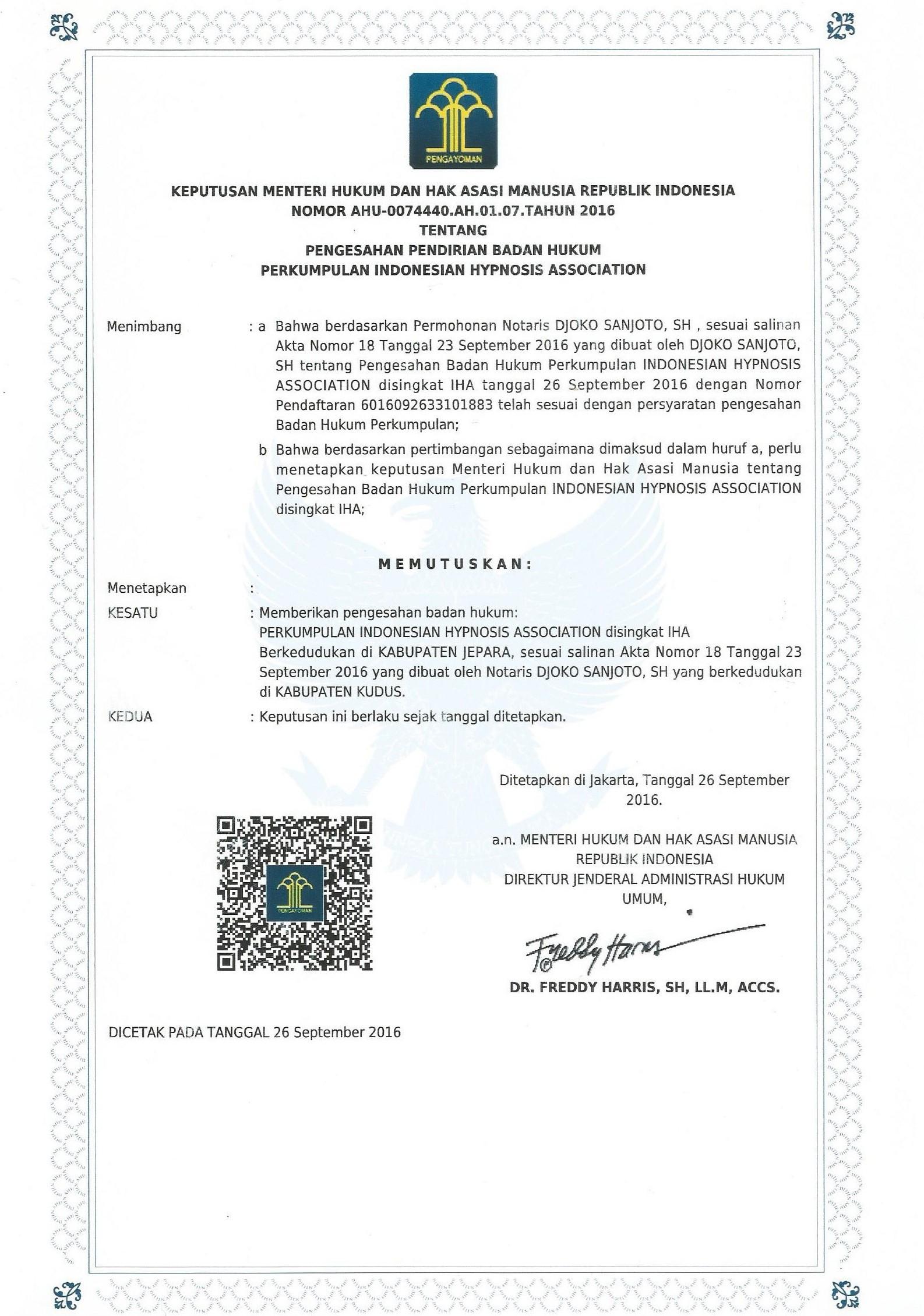 Pelatihan Hipnoterapi Bersertifikat Resmi