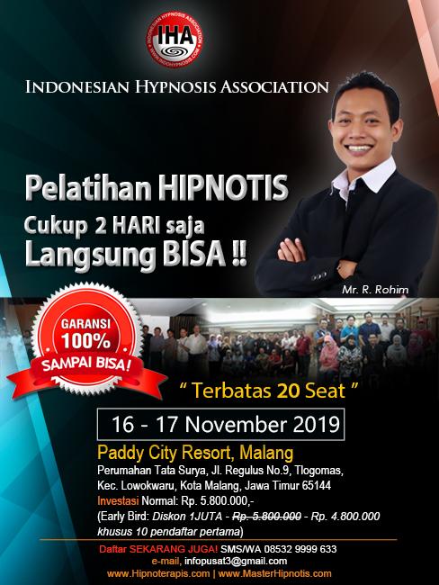 pelatihan hipnotis dan hipnoterapi malang jawa timur