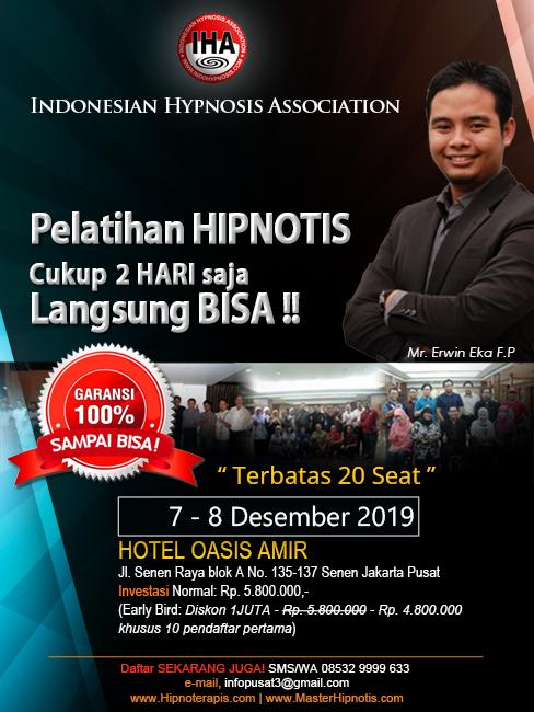 belajar hipnotis dan pelatihan hipnotis hipnoterapi jakarta