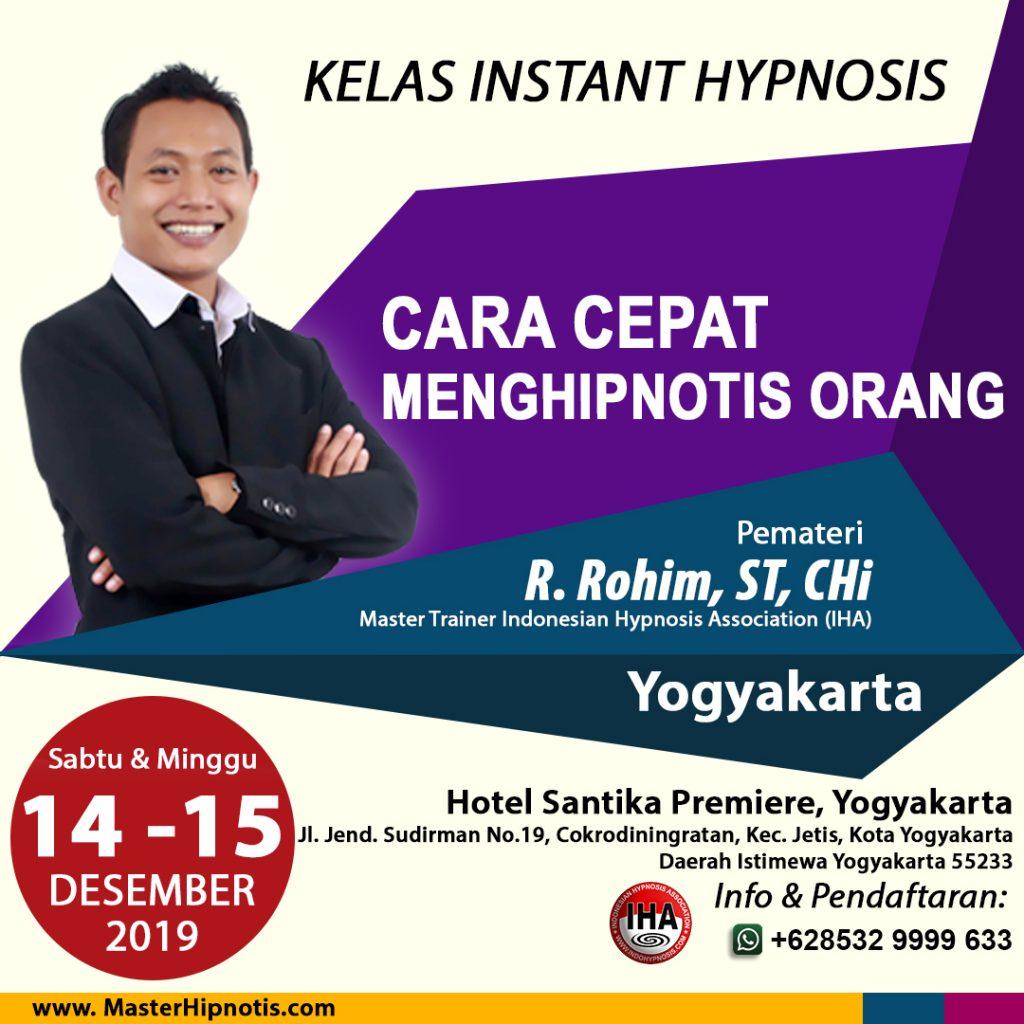 pelatihan hipnotis belajar hipnotis di yogyakarta jogja jogjakarta